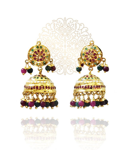 Maysa Jhumki and Tikka Set - The Pashm