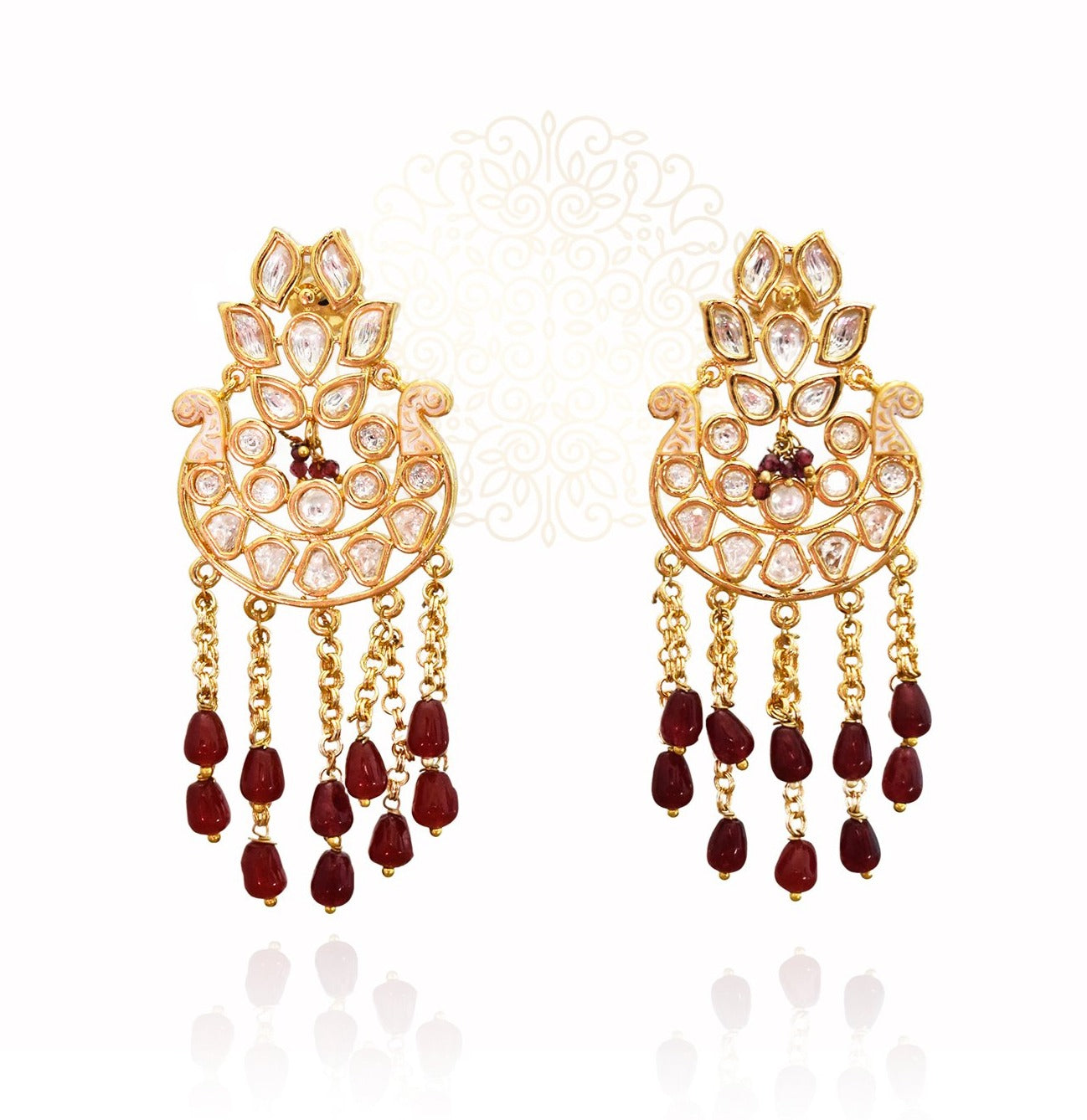 Samreen Kundan Traditional Earrings - The Pashm