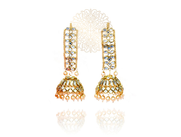 Shaheen Kundan Sahare Earrings and Tikka Set - The Pashm
