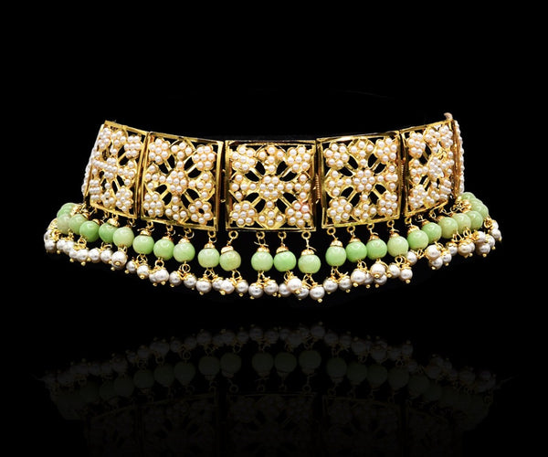 Harleen Jadau Choker - Mint - The Pashm