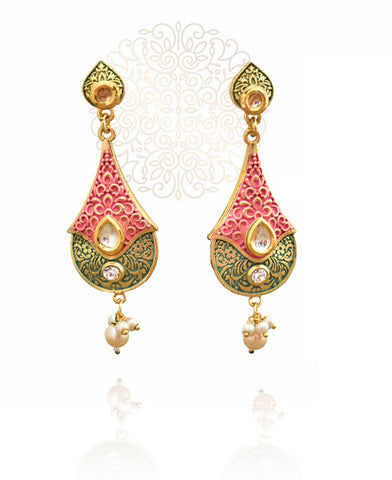 Aafia Mint Indian Earrings - The Pashm