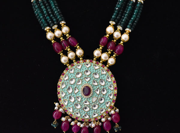 Tanzima Mint Kundan Necklace - The Pashm