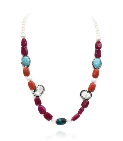 Haley Multicolor Mixed Beads Necklace - The Pashm