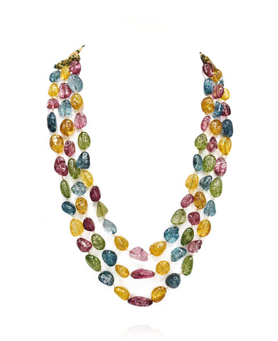Multicolor Layered Tourmaline Necklace - The Pashm