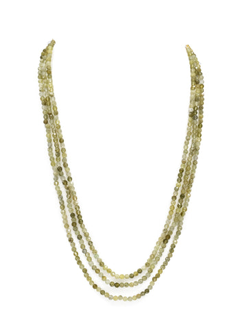 Natural Green Garnet Beads Necklace - The Pashm