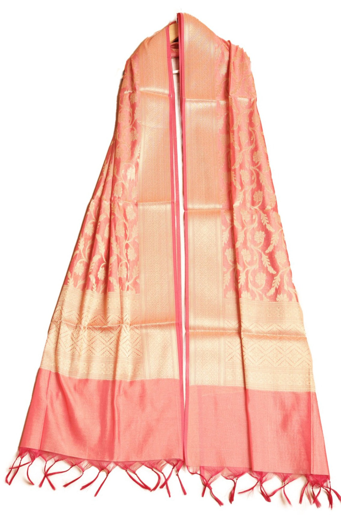 Damask Pattern Banarasi Silk Dupatta - The Pashm