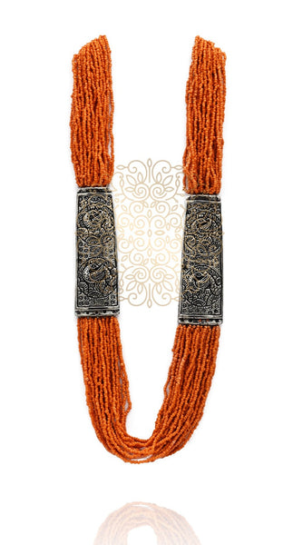 Calia Beaded German Silver Necklace - The Pashm