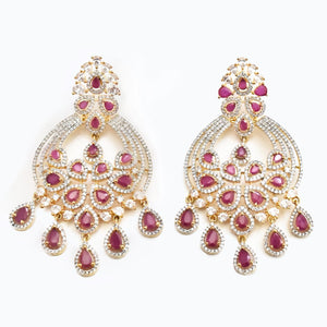 Juliette CZ Ruby Earrings - The Pashm