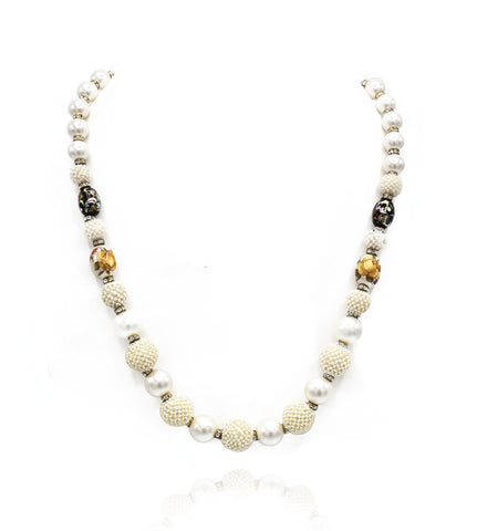 Zoey Meshed Pearl Necklace - The Pashm