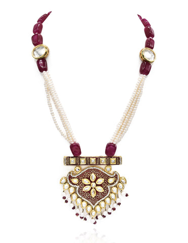 Padmini Pearl Kundan Set - The Pashm