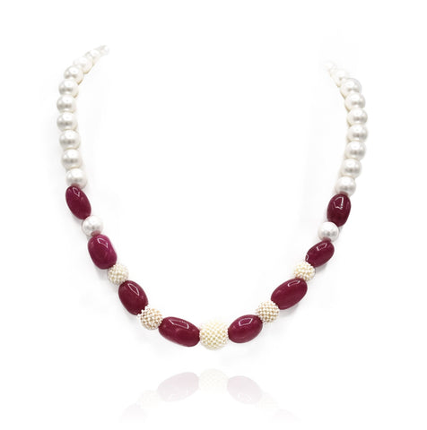 Anna Mesh Pearl Necklace - The Pashm