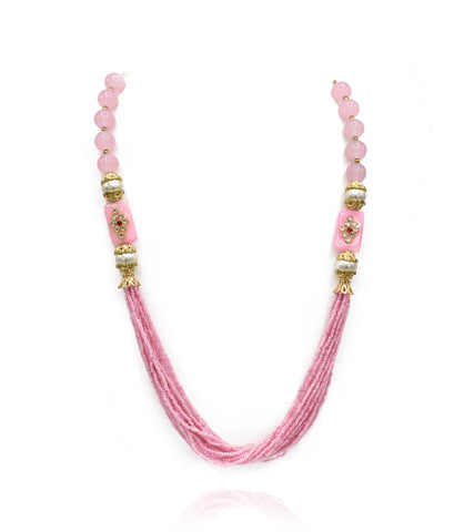 Grace Multi Layer Pink Necklace - The Pashm
