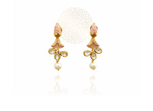 Aisyah Kundan Mint Earrings - The Pashm
