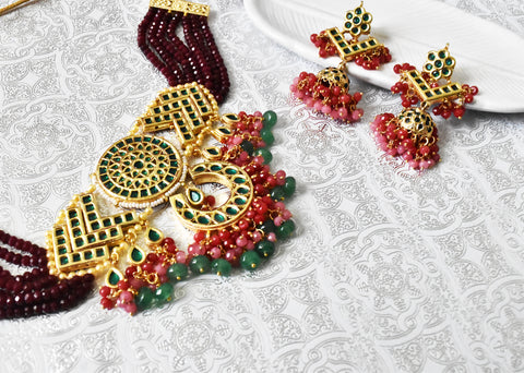 Rukhsana Beaded Choker Set - The Pashm