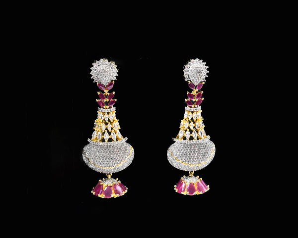 Sylvie CZ Ruby Earrings - The Pashm