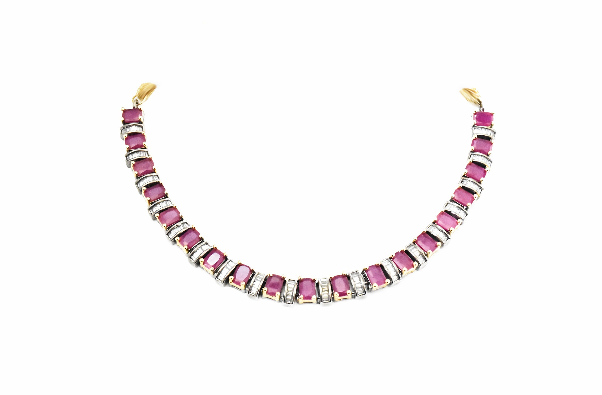 Elaine Ruby Necklace Set - The Pashm