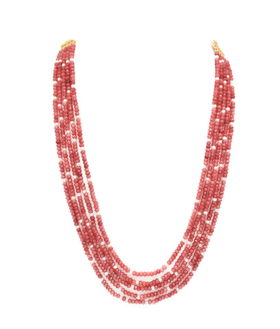 Ishya Rose Pink Bead Necklace - The Pashm