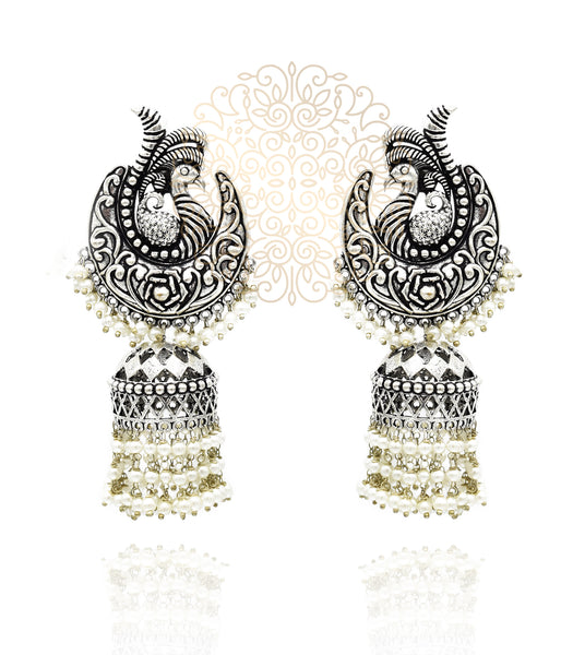 Kruttika Silver Earrings