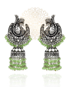 Kruttika Silver Earrings - The Pashm