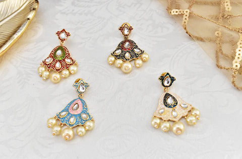 Iqra Meena Earrings - The Pashm