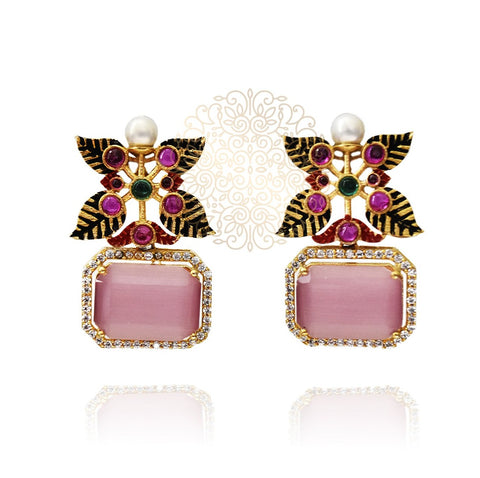 Neha Cabochon Earrings