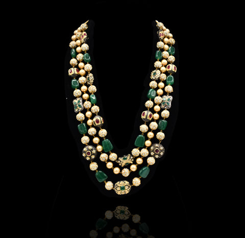 Pallavi Tanjore Necklace - The Pashm
