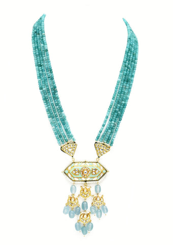 Shifa Teal Lac Beaded Set - The Pashm