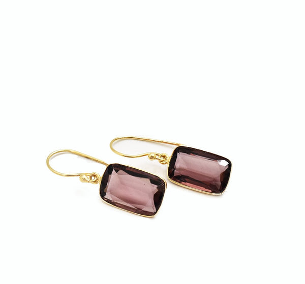 Smoky Wine Topaz Earrings