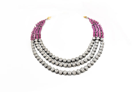 Laurel CZ Ruby Necklace -  The Pashm