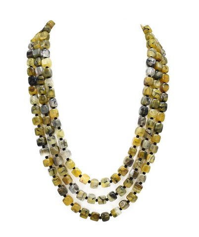 Zaina Tortoise Shell Beads Necklace - The Pashm