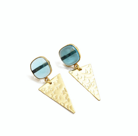 Hydro Blue Topaz Earrings - The Pashm