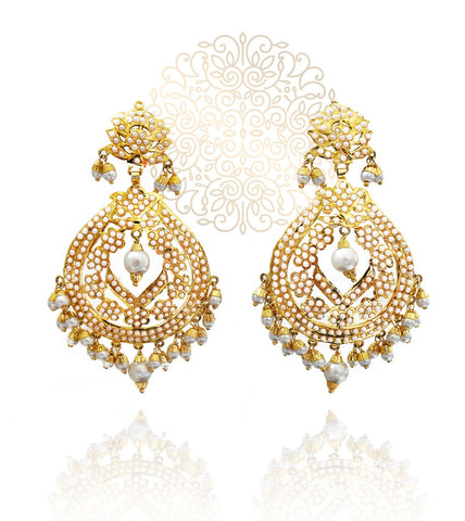 Zaina Jadau Earrings - The Pashm