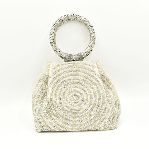 Snow White Crystal Pearl Bag
