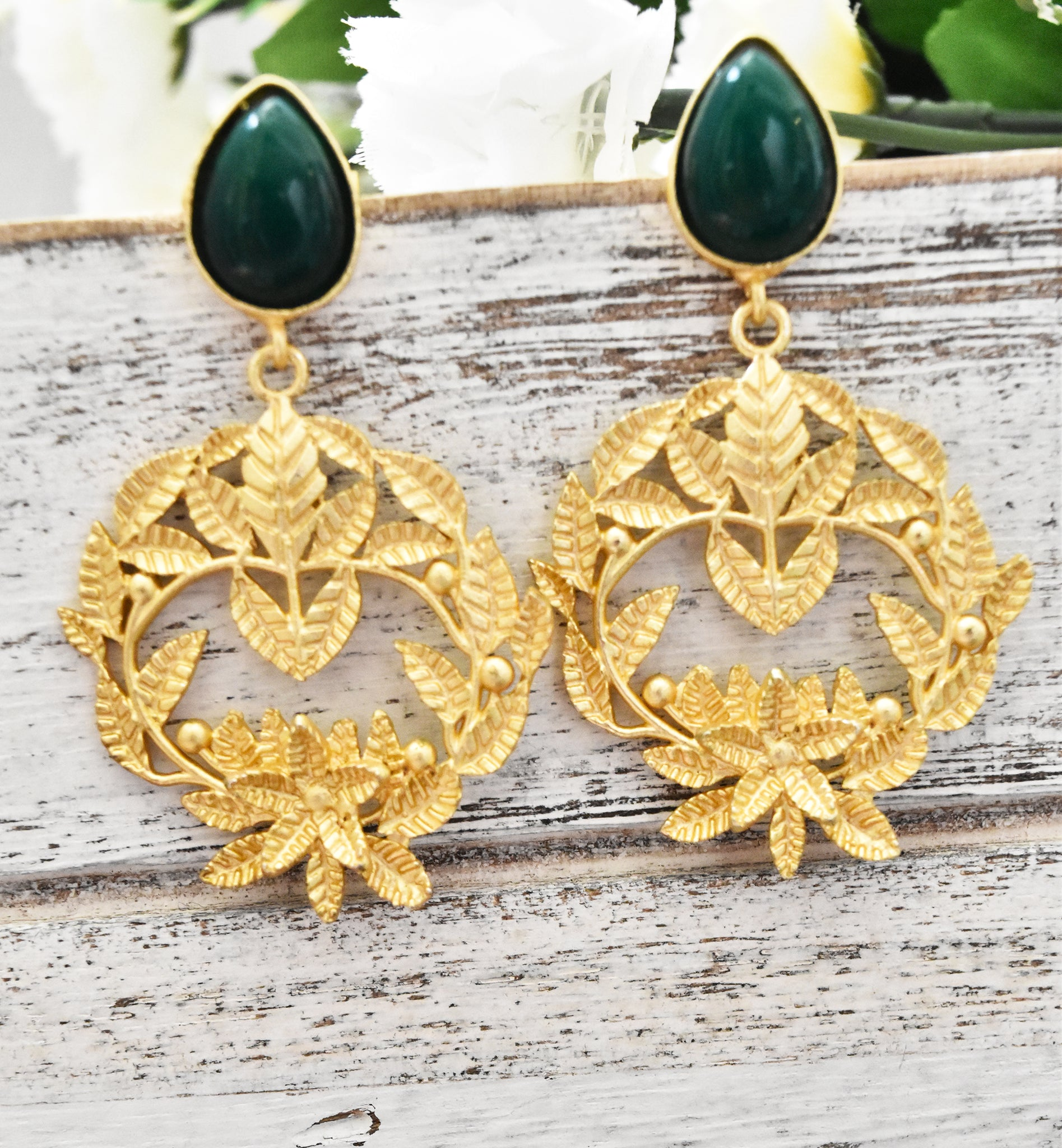 Leaves Wreath Earrings