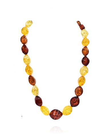 Yovela Yellow Resin Nuggets Necklace - The Pashm