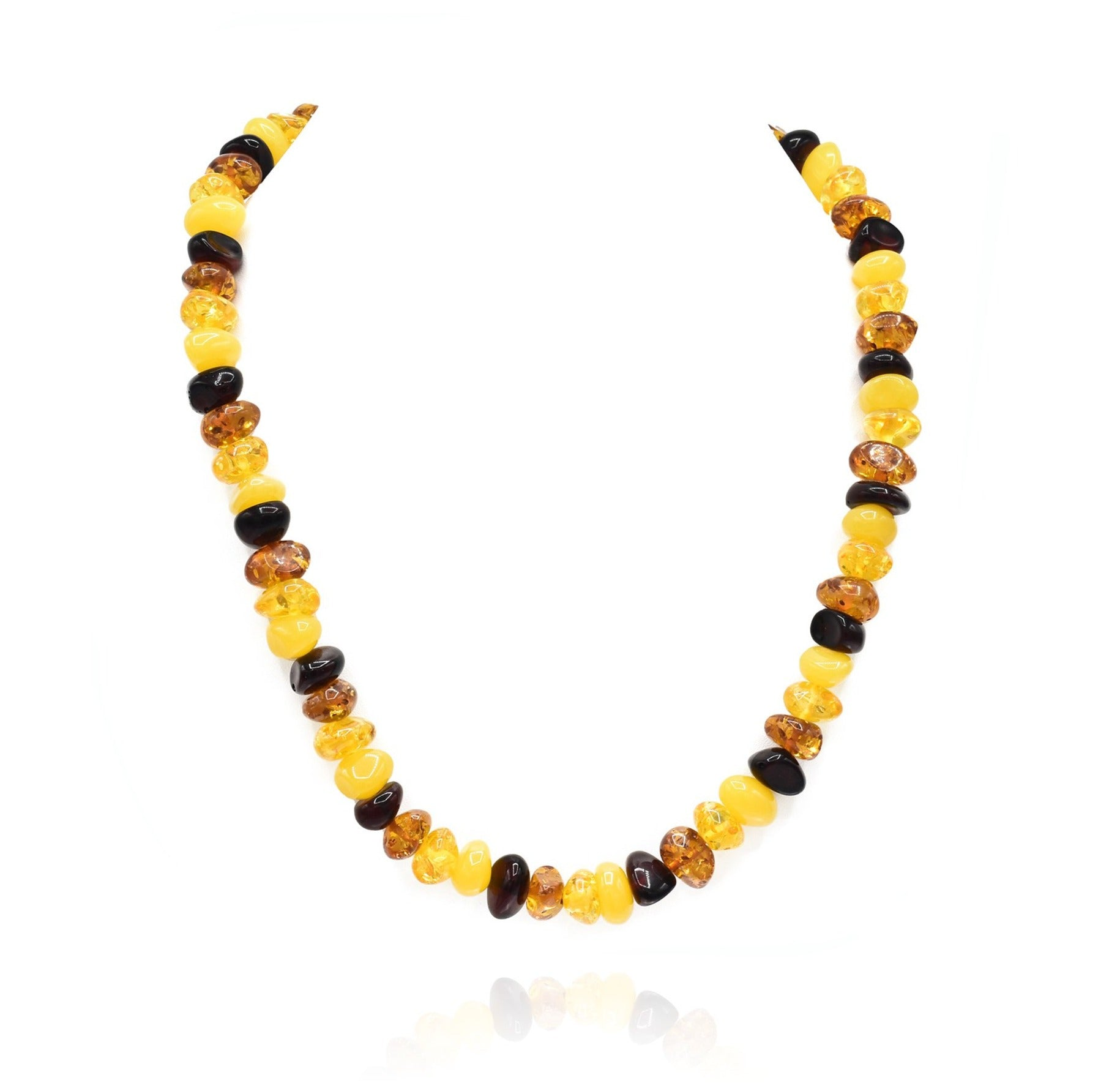 Oriana Yellow Summer Color Resin Beads Necklace - The Pashm