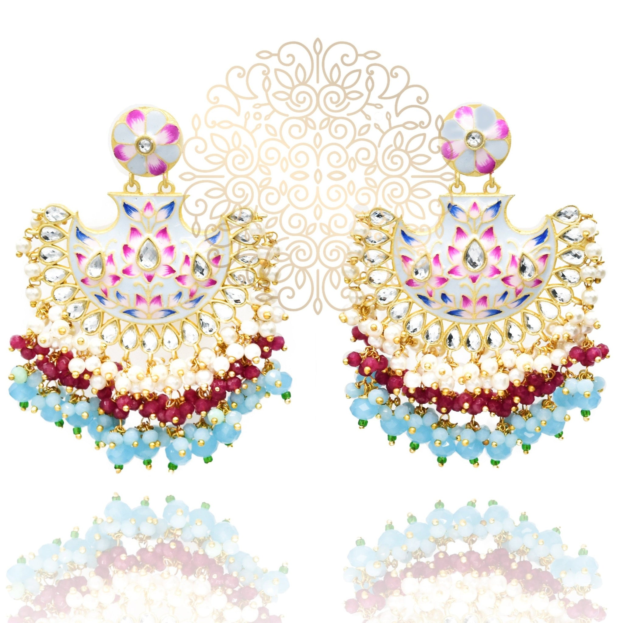Roma Enameled Earrings - The Pashm