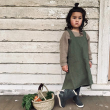 Load image into Gallery viewer, Linen Apron Kids - Khaki