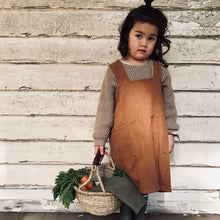 Load image into Gallery viewer, Linen Apron Kids - Rust