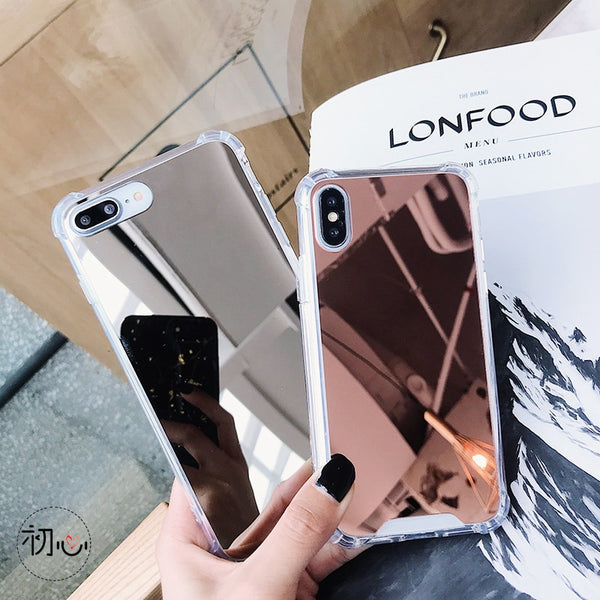 Gasbag Drop Proof Mirror Case for iphone XR 7 8 XS MAX XSmax X 10 6 6S Plus 7Plus 8Plus Airbag Soft TPU Phone Cover