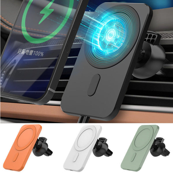 15w Magnetic Car Wireless Charger Phone Stand For Iphone 12 ProMax 12Mini Magsafe Car Holder