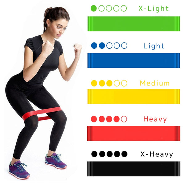 Yoga Resistance Rubber Bands Fitness Elastic