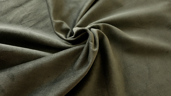 "REMNANT 1.05m x 0.92m - NEEDLE CORDUROY FABRIC - 100% cotton  - 36"" wide"