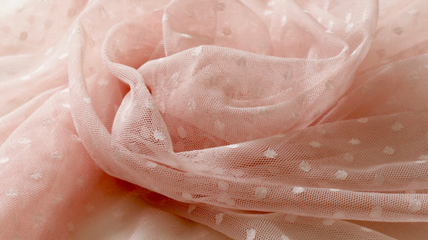 stretchy-netting-fabric-pink-polka-dot-clothcontrol