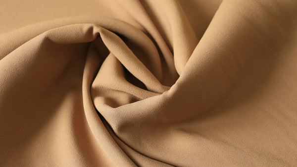 "CREPE FABRIC - Beige Fabric 45"" Wide"