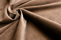 REMNANT 1.10m x 1.02m - CORDUROY FABRIC - 100% cotton  - 10-wale - brown colour