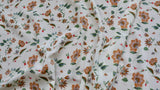 CHIFFON FABRIC - Dianthus flower design - 10% Give/Stretch