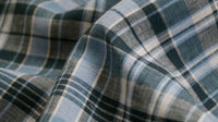 100% IRISH LINEN - Check Design - Blue & White
