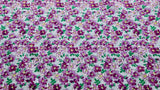 PRINTED POLYCOTTON FABRIC - Delicate floral design