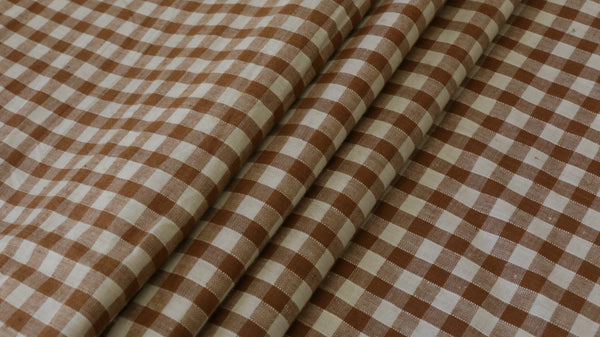 "100% COTTON FABRIC - 1/4"" Gingham Design"